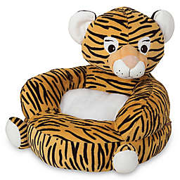 Trend Lab Children's Plush Tiger Character Chair in Orange