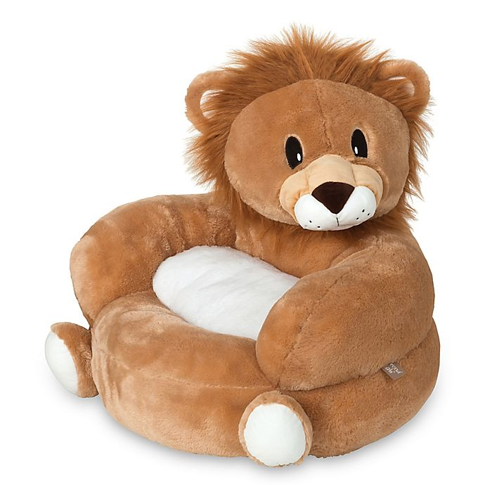 Alternate image 1 for Trend Lab Children's Plush Lion Character Chair in Tan