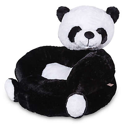 Trend Lab Children's Plush Panda Character Chair in Black
