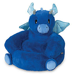 Trend Lab Children's Plush Dragon Character Chair in Blue