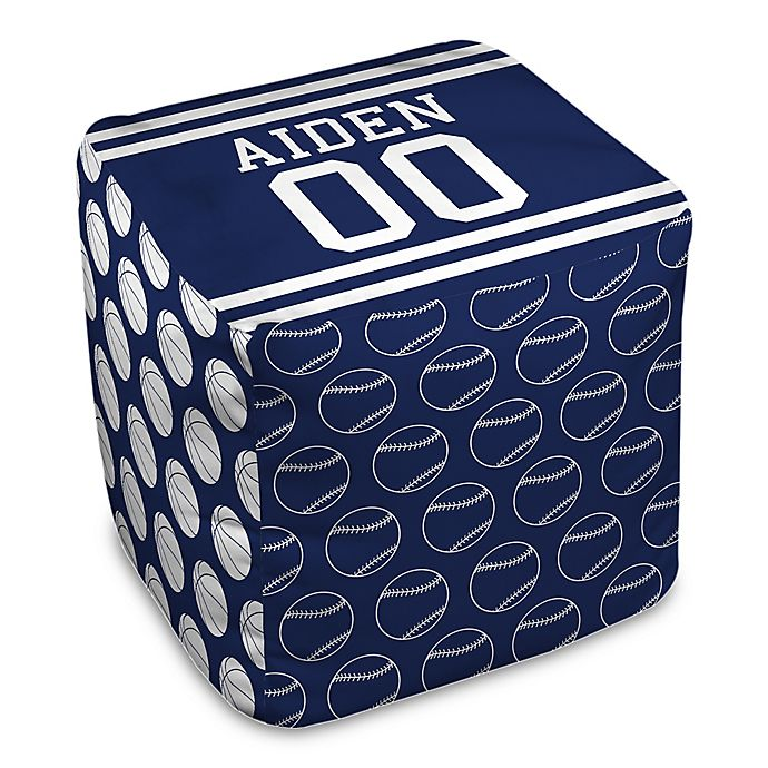 Alternate image 1 for Designs Direct Sports Ball Ottoman