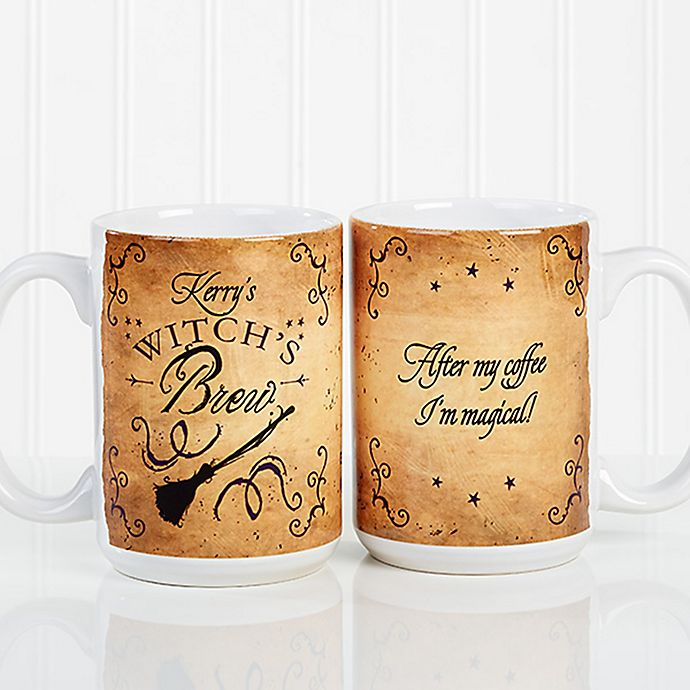 Alternate image 1 for Witch's Brew 15 oz. Coffee Mug in White