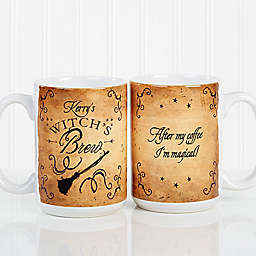 Witch's Brew 15 oz. Coffee Mug in White