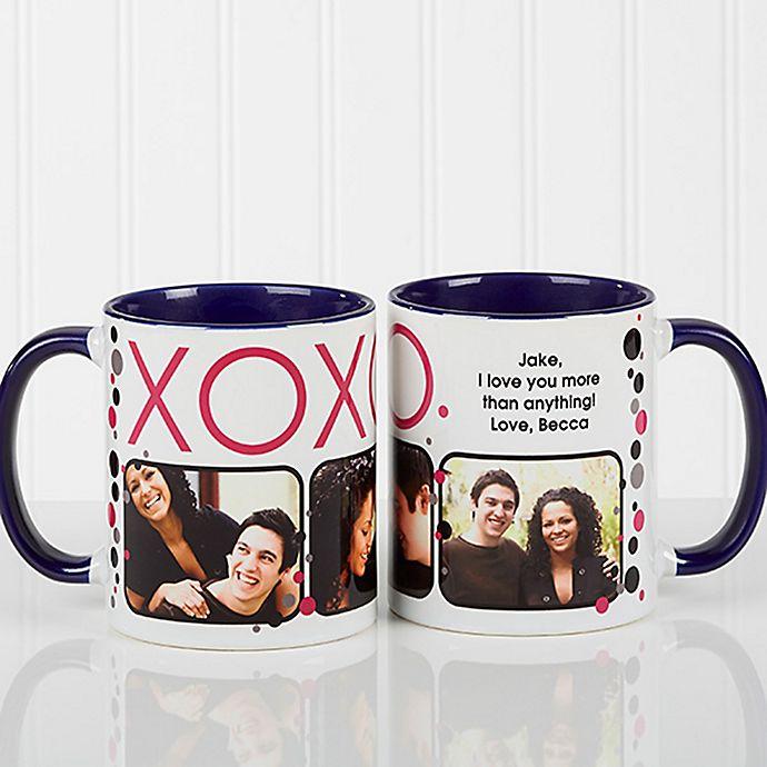 Alternate image 1 for XOXO 11 oz. Coffee Mug in White/Blue
