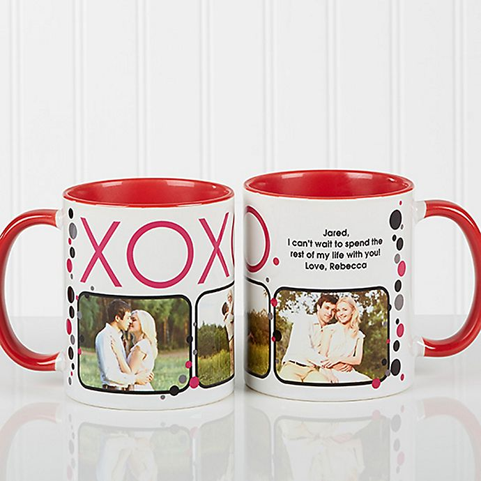 Alternate image 1 for XOXO 11 oz. Coffee Mug in White/Red