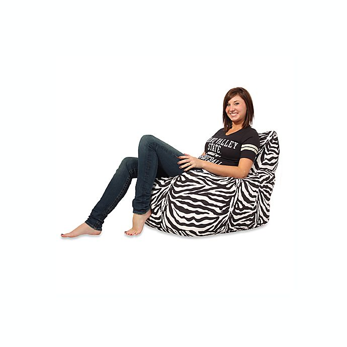 Swell Fuf Memory Foam Bean Bag Chair With Zebra Microsuede Cover Dailytribune Chair Design For Home Dailytribuneorg