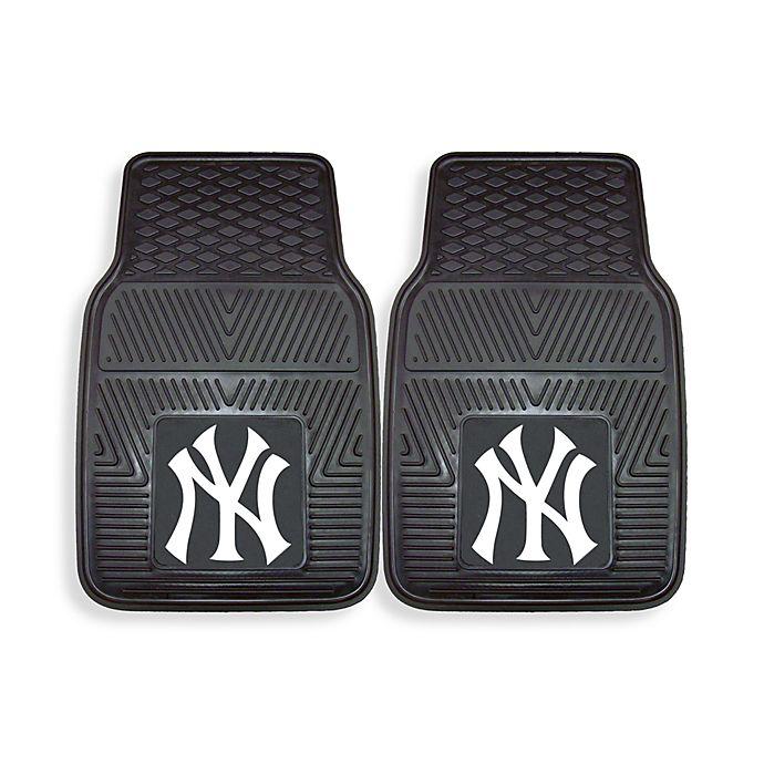 Alternate image 1 for MLB New York Yankees Vinyl Car Mats (Set of 2)