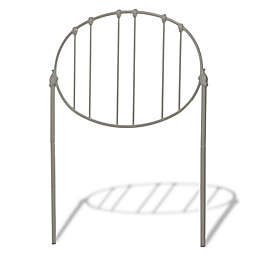 Fashion Bed Group Emory Metal Headboard in Light Grey