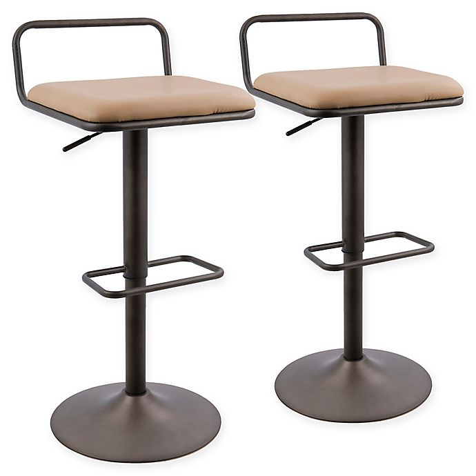 Stupendous Lumisource Beta Bar Stools In Antique Camel Set Of 2 Theyellowbook Wood Chair Design Ideas Theyellowbookinfo