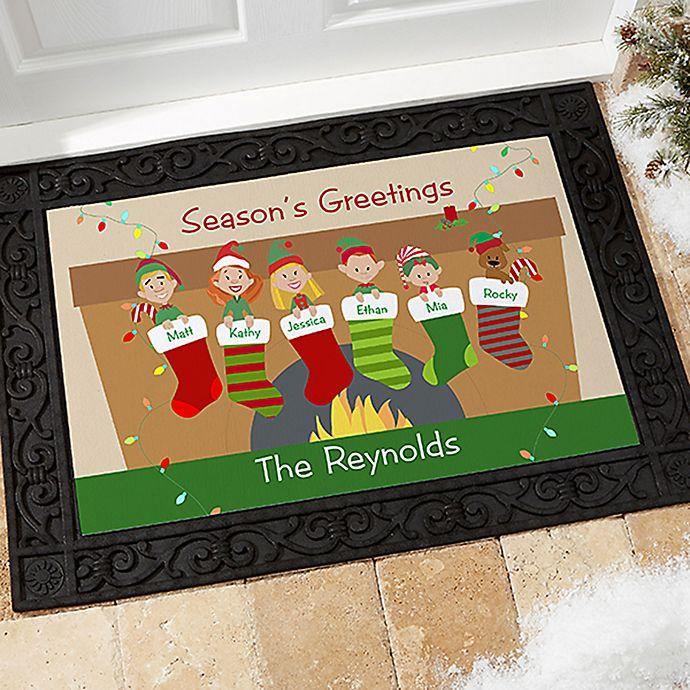 Alternate image 1 for Stocking Family Characters Door Mat