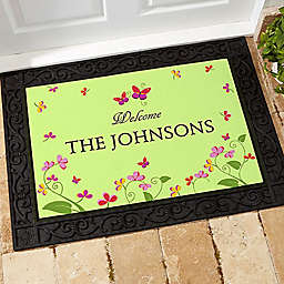 Floral Welcome Door Mat