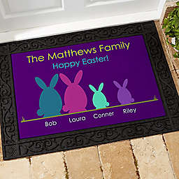 Easter Bunny Family Door Mat