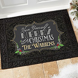 Merry Little Christmas Door Mat
