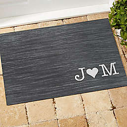 Family Initials Door Mat