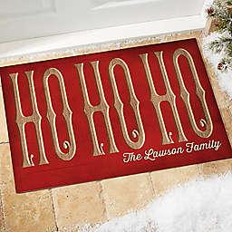 HO HO HO Door Mat in Red