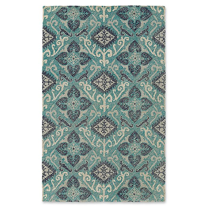 Alternate image 1 for Kaleen Weathered Dhahran Indoor/Outdoor 5-Foot x 7-Foot 6-Inch Area Rug in Teal