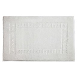 Linum Home Textiles Greek Key Bath Mat in White
