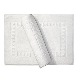 Linum Home Textiles Greek Key Bath Mat in White (Set of 2)