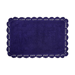 Laura Ashley Crochet 17-Inch x 24-Inch Bath Rug
