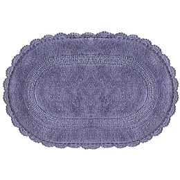 Jessica Simpson 21-Inch x 34-Inch Carlin Reversible Bath Rug in Purple