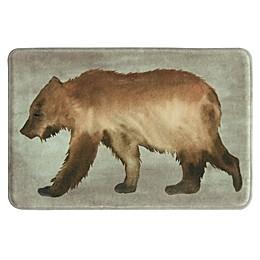 Bacova Bear Memory Foam Bath Rug in Brown