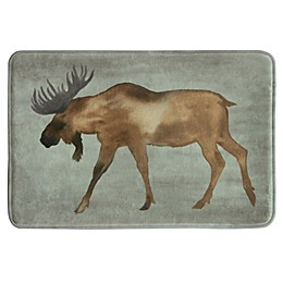 Bacova 20-Inch x 30-Inch Moose Bath Rug in Brown