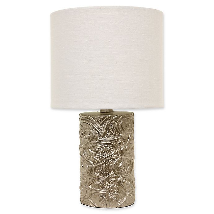 Alternate image 1 for Décor Therapy Rose Accent Lamp in Rose with Fabric Shade