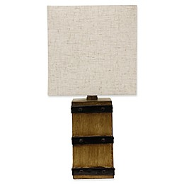 Décor Therapy Campbell Table Lamp in Brown