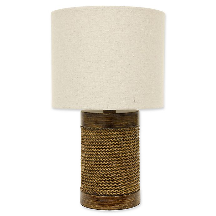 Alternate image 1 for Décor Therapy Cali Rope-Wrapped Table Lamp in Natural