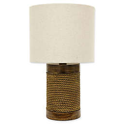 Décor Therapy Cali Rope-Wrapped Table Lamp in Natural