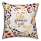 Designs Direct Glorious Fall Square Throw Pillow in White