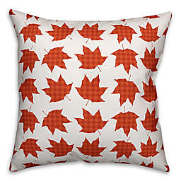 Designs Direct Fall Leaves Square Throw Pillow in Orange