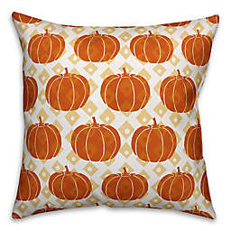 Designs Direct Pumpkin Pattern Square Throw Pillow in Orange