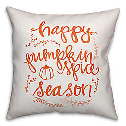 Designs Direct Pumpkin Space Square Throw Pillow in Orange