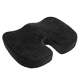 Orthopedic Memory Foam Coccyx Cushion in Black