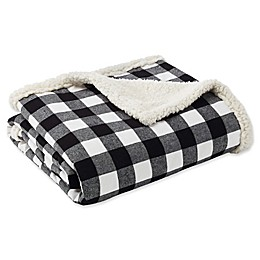 Eddie Bauer® Cabin Plaid Throw Blanket in Black