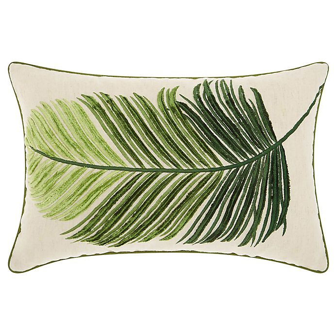 Surprising Mina Victory By Nourison Palm Leaf Oblong Throw Pillow In Green Ocoug Best Dining Table And Chair Ideas Images Ocougorg