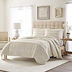 Stone Cottage Solid Ruffle Full/Queen Quilt Set in Ivory