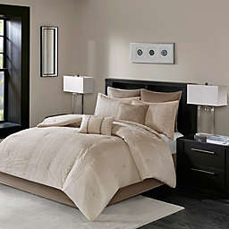 Madison Park Camelia Embroidered Comforter