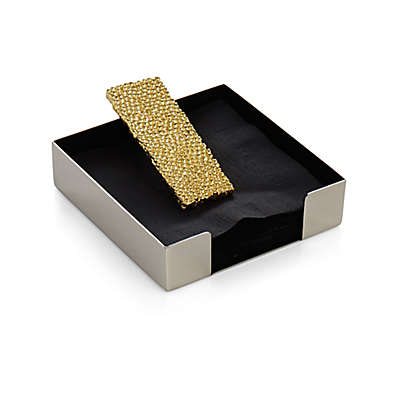 Michael Aram Molten Gold Cocktail Napkin Holder