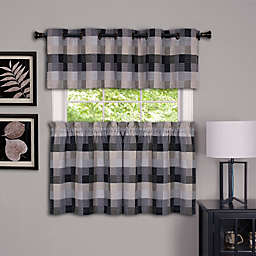 Achim Harvard Kitchen Window Curtain Tier Pair and Valance