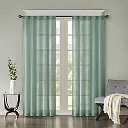 Madison Park Harper Solid Crushed Rod Pocket/Back Tab Window Curtain Panel Pair
