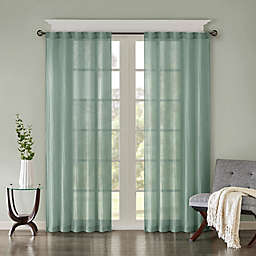 Madison Park Harper Solid Crushed 2-Pack 108-Inch Rod Pocket/Back Tab Window Curtain Panels in Aqua