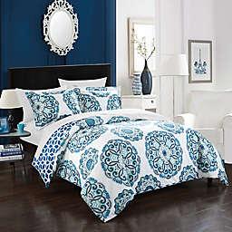 Chic Home Majorca 3-Piece Reversible King Duvet Cover Set in Blue