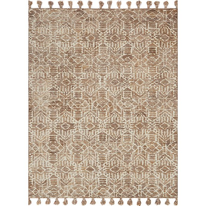 Alternate image 1 for Magnolia Home by Joanna Gaines Teresa 2-Foot 6-Inch x 7-Foot 6-Inch Runner in Ivory/Bronze