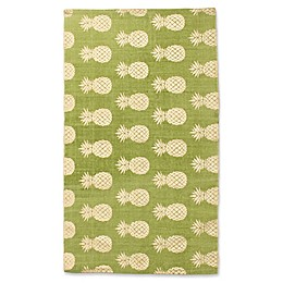 Thro by Marlo Lorenz Perry Pineapple Foil Printed Accent Rug
