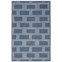 Liora Manne Boxes Rug in Denim