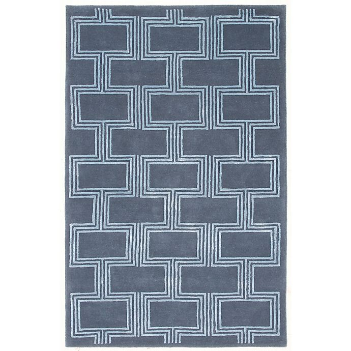 Alternate image 1 for Liora Manne Boxes 9-Foot x 12-Foot Area Rug in Denim