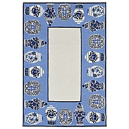 Liora Manne Ginger Jars Indoor/Outdoor Rug in Blue