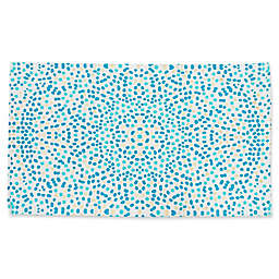 Thro by Mario Lorenz Lindi Foil 2-Foot 3-Inch x 4-Foot 2-Inch Accent Rug in Turquoise